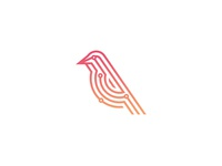 Siskin typography technology simple gradient logotype identity branding logo design