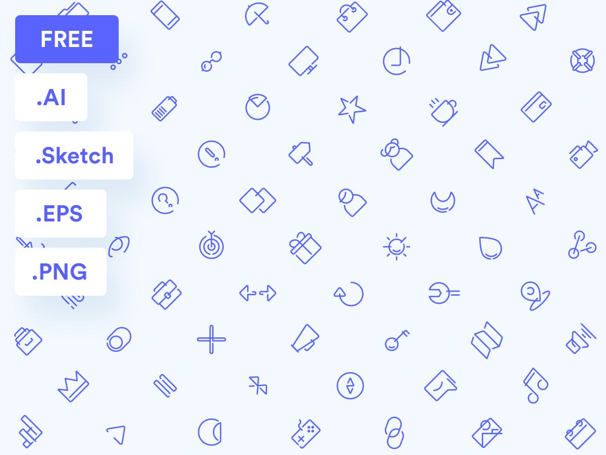 100 [Free] Essential Icons Set web download free download free icons pack icons set icons ui design