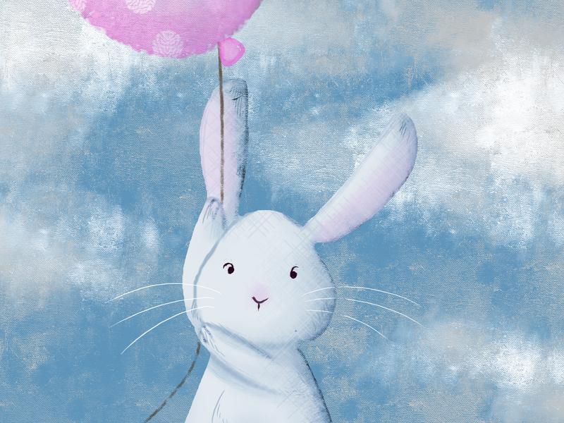 Flying Bunny illustration digital art computer art