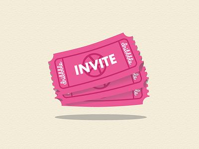 Dribbble Invite Tickets design illustrator illustration invite dribbble invite dribbble