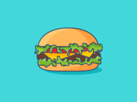 Flat Hamburger