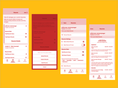 Outtakes screens ux ui iphone x ios mobile app mobile wireframes wires