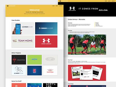mdumet case study portfolio site portfolio website design web design web design website