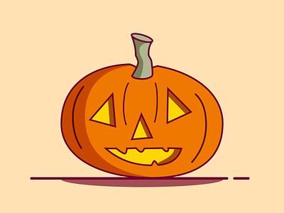 Pumpkin sketchapp sketch pumpkin halloween vector flat illustration flat design illustrator illustration