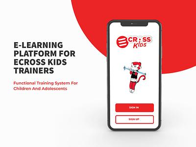 ECross Kids v1 kids sport web ui ux