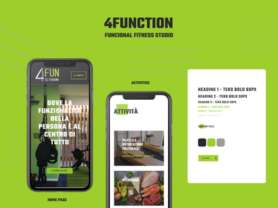 4function - Functional Fitness Studio Website functional training website mobile fitness design web ux ui sport
