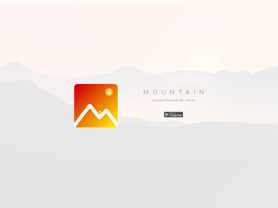 App Icon – Daily UI 005 icon design 005 dailyui 005 warm sun mountain android app icon icon logo sport dailyui ui ux