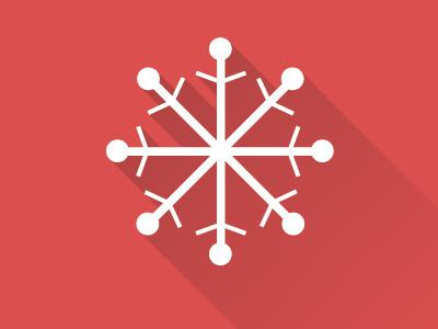 Snowflake winter christmas snowflake flat icon