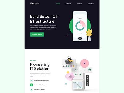 Oriscom Landing Page ux web ui design
