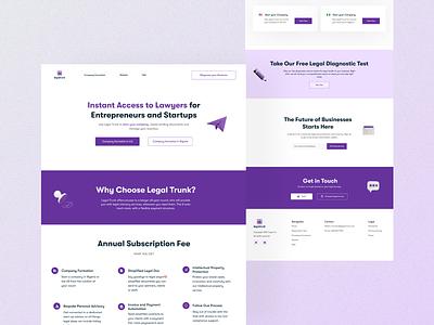 Legal Landing Page legal web ui design