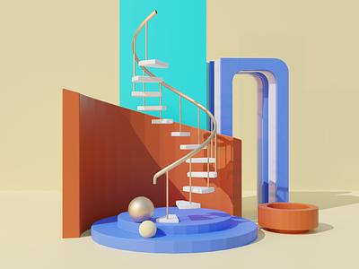 Ladder to Heaven 3d web design