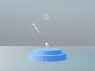Glass Credit Card credit card glass 3d web design