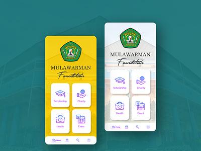 Main Menu Design Foundation Mobile Apps branding design ux ui mobile ui foundation apps home app mainpage