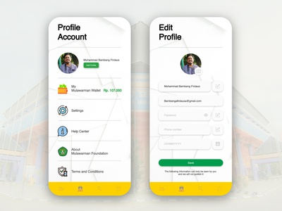 Profile account details and settings pandemic coronavirus covid-19 settings ui profile page crowdfunding charity design account ui ux mobile ui foundation apps