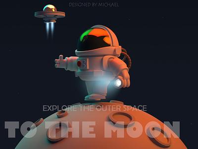 Astronaut moon astronaut space