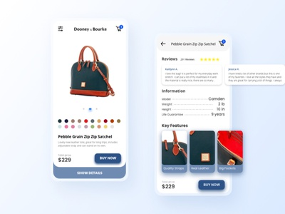 eCommerce for Dooney and Bourke ui design uxdesign design uiux graphic design app design app appdesign uidesign ui ecommerce dooneyandbourke dooneyandbourke
