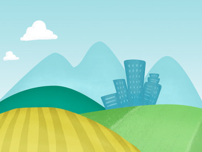 Beyond The Farm vector backdrop design illustration