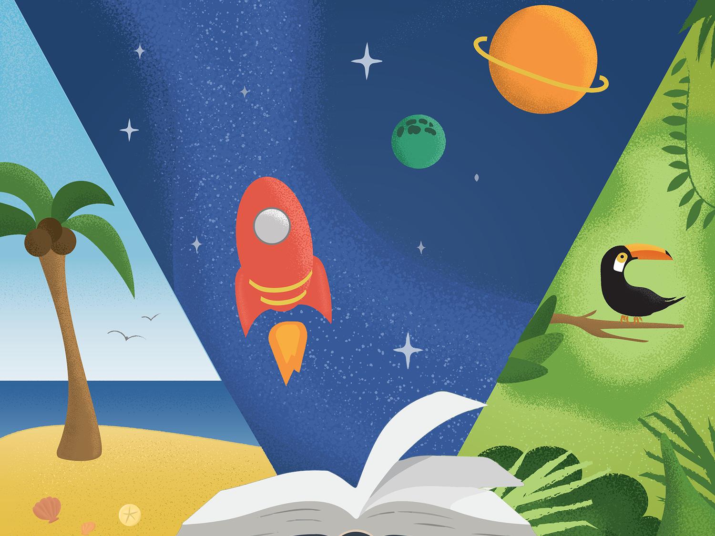Story Explorers branding vector children illustration