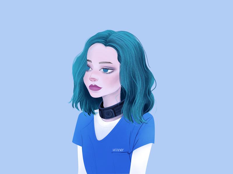 Polaris girl illustration