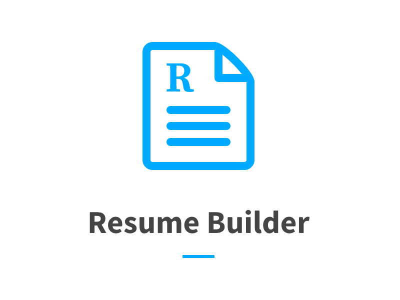 logo for resume builder project  by rowan hogan