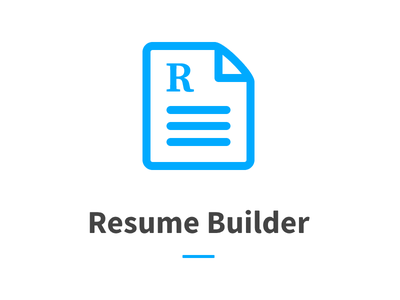 Logo for resume builder project. source sans pro page icon logo
