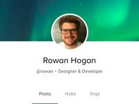 User header