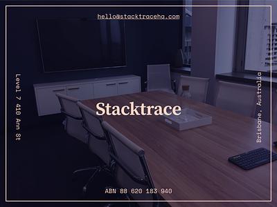 Stacktrace space mono source serif pro