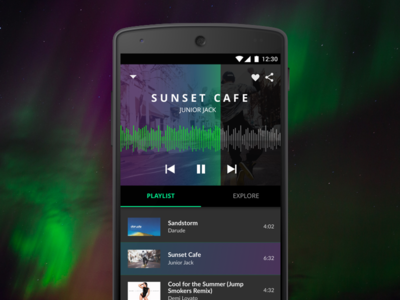 Northern Lights Inspired Music Player