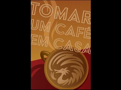 tomar um cafe em casa art deco poster art poster design poster