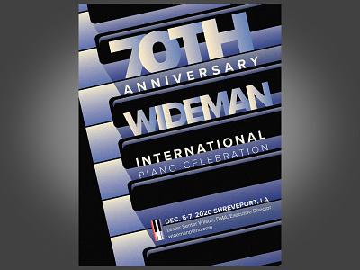 Wideman 70th Anniversary Poster photoshop adobe illustrator piano poster art poster design art deco poster