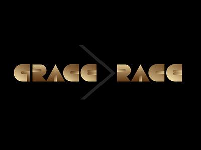 GRACE is greater than RACE hand lettering typography logotype logo art deco word art wordmark