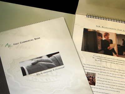 First Commercial Bank Brochure corporate identity collateral