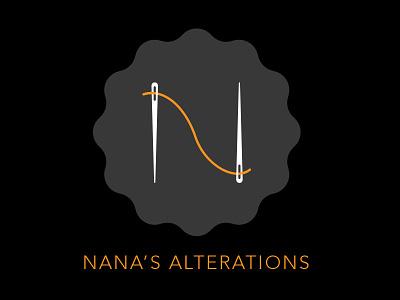 Nana's Alterations corporate identity logo