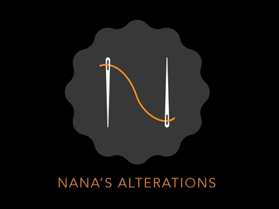 Nana's Alterations corporate identity logo