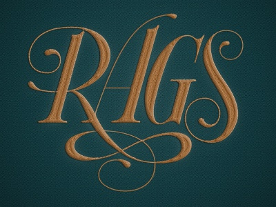 Rags Embroidered logo