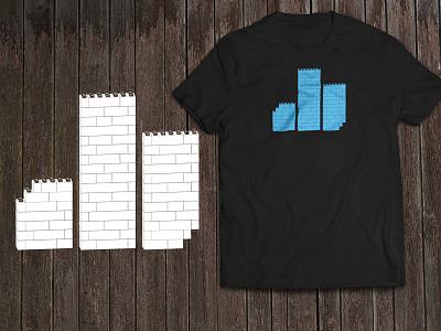 Three Pillars Media T-Shirt Design tshirt logo lego illustrator 3d extrude three pillars media