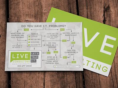 Live Consulting Handout flyer live consulting print 4x6 handout denver flowchart