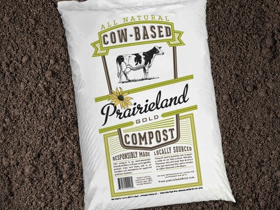 """Compost Bag"" for Prarieland Dairy packaging prairieland dairy manure compost cow holstein animal agriculture"