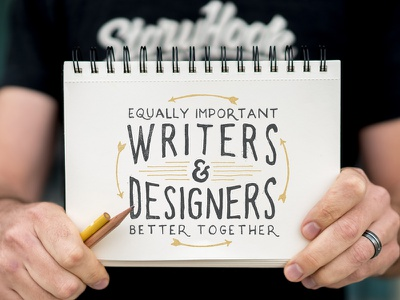 Equally Important, Better Together quote storyhook slogan writers designers typography illustration