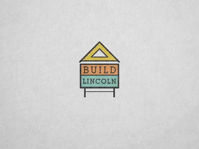 Build Lincoln Logo Concept lincoln line color sign home builder real estate logo