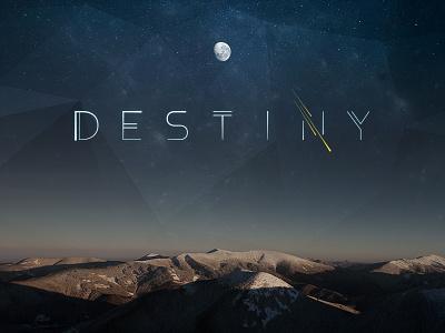 Destiny Final Logo comet font type custom theme stars space logo destiny