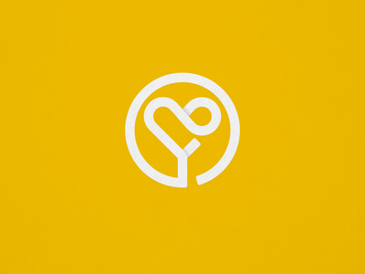 Living Lyfe Logo yazidi yezidi infinity letter heart logo mark smart simple non-profit