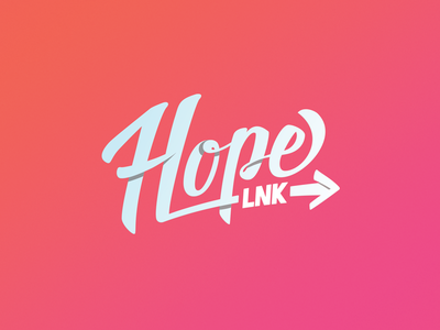 HopeLNK Logo lincoln lnk mental-health nonprofit movement script hope brand logo