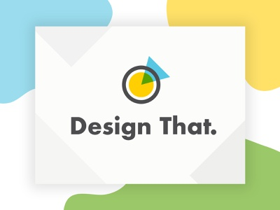 Design That. Logo illustration blend mode yellow futura abstract arrow circle community design mark logo