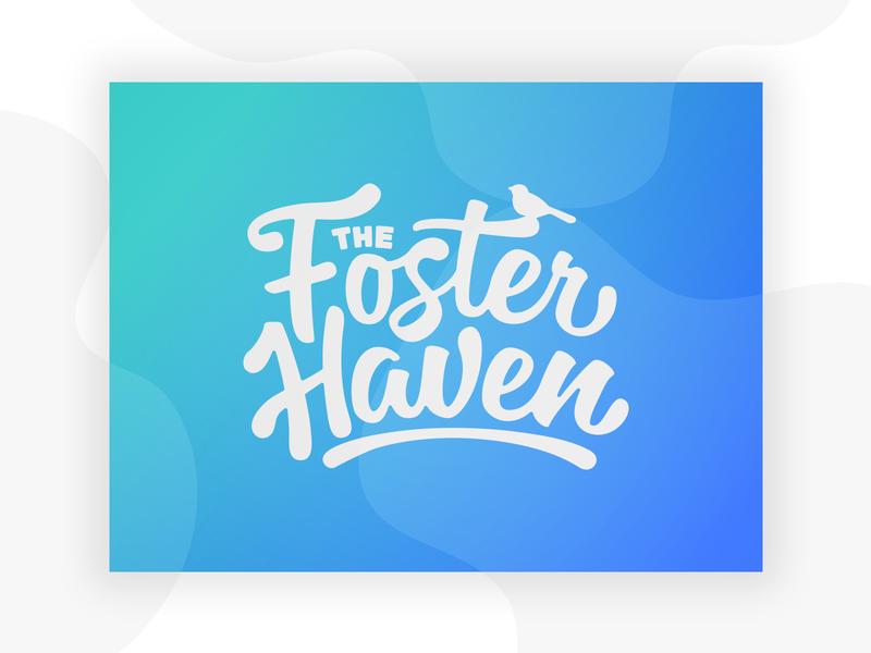 The Foster Haven logo brand typogaphy nonprofit kind safety bird haven foster care kids fun logo