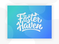 The Foster Haven logo brand typogaphy nonprofit kind safety bird haven foster care kids fun logo