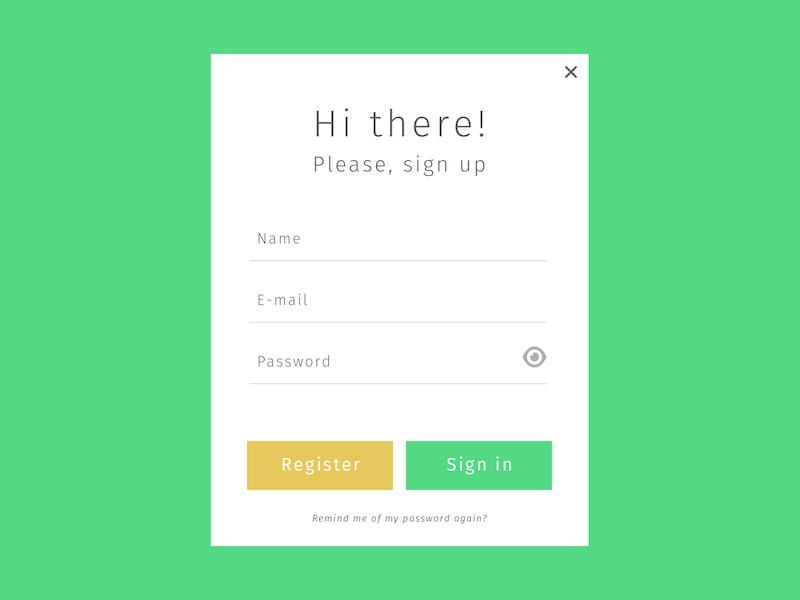 Daily UI 001 daily ui sign up