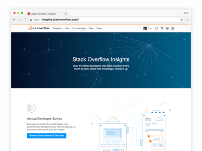 Stack Overflow Insights illustration web insights data