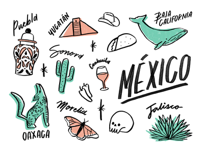 Mexico illustration mexico
