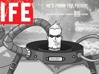 Dribbble 72 life magazine 1945 vintage magazine umbrella academy spaceboy comic superhero